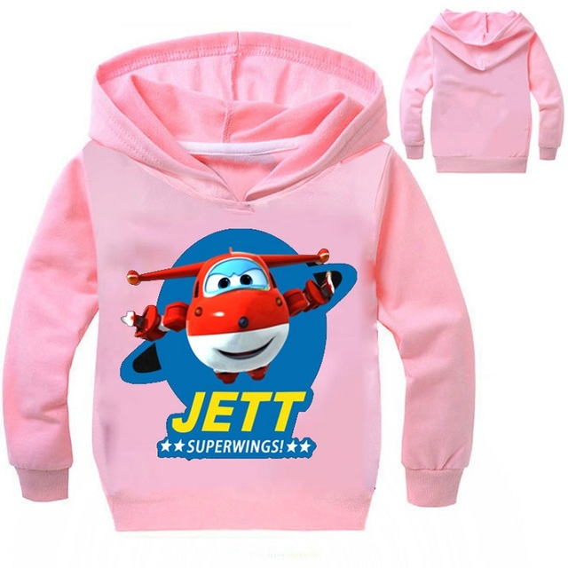 YLS 2-14Years Cartoon Jett Super Wings Clothes Funny T Shirts Sweatshirts  for Girls Hoodies for Toddler Boys Tops Kids Clothing 16adf6faf
