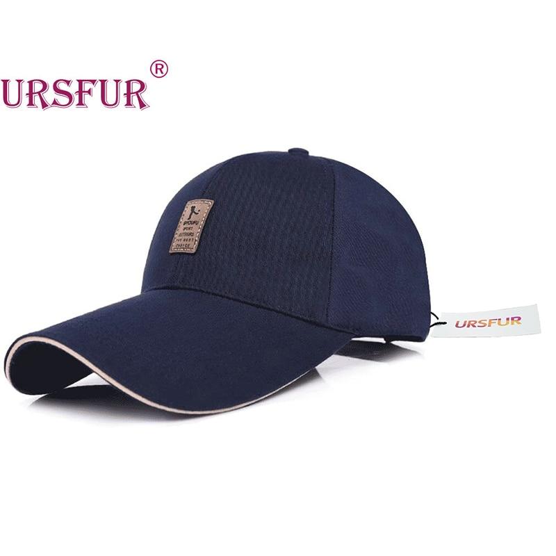 URSFUR Big Brim Baseball Cap Spring Bone Snapback Long Visor Hat  Mountaineering Fashion Leisure Hat Shade 4 Colors 100% Cotton a390ddc9ad2