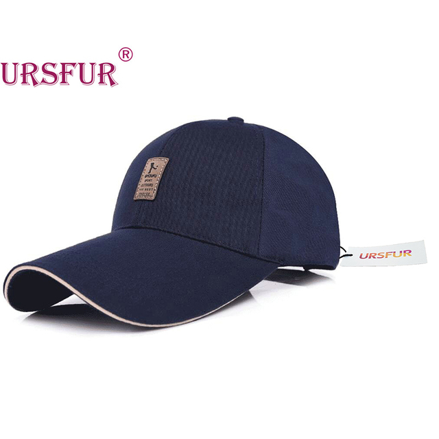 URSFUR Big Brim Baseball Cap Spring Bone Snapback Long Visor Hat  Mountaineering Fashion Leisure Hat Shade 4 Colors 100% Cotton 202bd1bf7e7