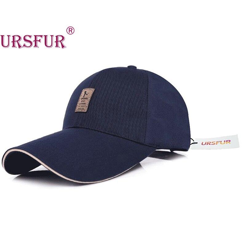Prix pour URSFUR Big Brim Casquette de baseball Printemps Os Snapback Longue Visière Chapeau Alpinisme Mode Loisirs Chapeau Ombre 4 Couleurs 100% Coton