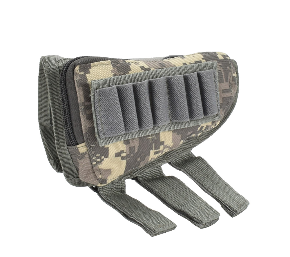 Tactical Muti-functional Hunting Zipper Rifle Buttstock Pack Bag Cheek Pad Rest Shell Mag Ammo Pouch Pocket Magazine Bandolier