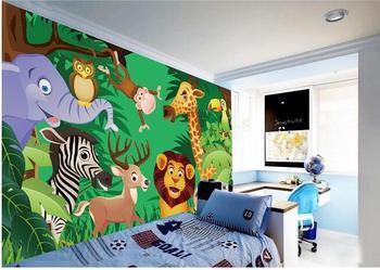 3d wallpaper custom mural non-woven wall sticker Cartoon animal world children room background painting 3d wall murals wallpaper