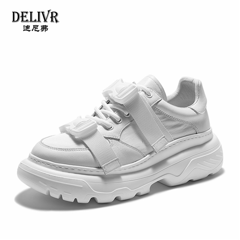 Delivr New Mens Chunky Sneakers 2019 Spring Loop Men Platform Sneaker Fashion Comfortable Casual Man Dad Shoes Male FootwearDelivr New Mens Chunky Sneakers 2019 Spring Loop Men Platform Sneaker Fashion Comfortable Casual Man Dad Shoes Male Footwear