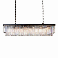 Modern Rectangular Lustre Crystal Chandelier Lighting Crystal Chandeliers Luminaria De Techo Hanglamp Lighting Fixtures