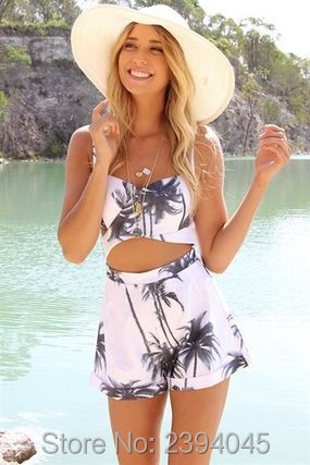 2016 NEW WOMENS LADIES sling summer beach leisure Playsuits Sexy Sexy BackLess Halter pants Siamese shorts