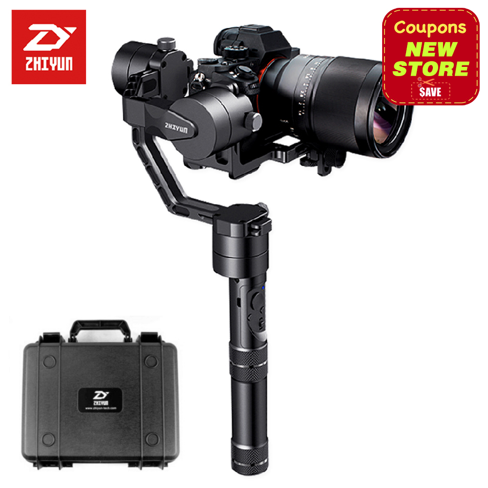 Newest Version Zhiyun Crane V2 3-axis Brushless Handheld Video Camera Stabilizer Gimbal Kit for Mirrorless DSLR Camera  Sony A7 latest 2017 version zhiyun crane 3 axis handheld stabilizer gimbal for dslr canon sony a7 cameras load 1800g