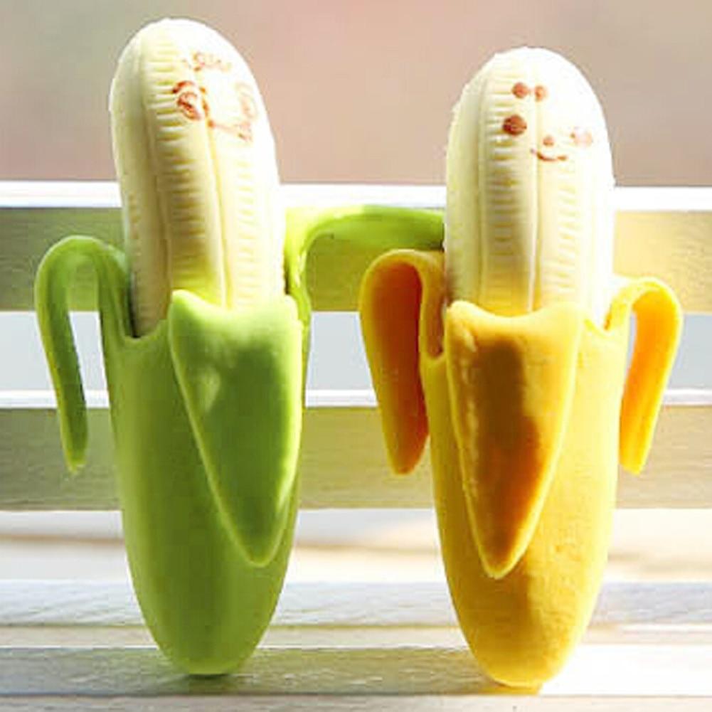 Дети фантастический Банан Фрукты Стиль Игрушечные лошадки милые резиновые карандаш Ластики канцелярские принадлежности игрушка в подарок Игрушки-приколы Игрушечные лошадки