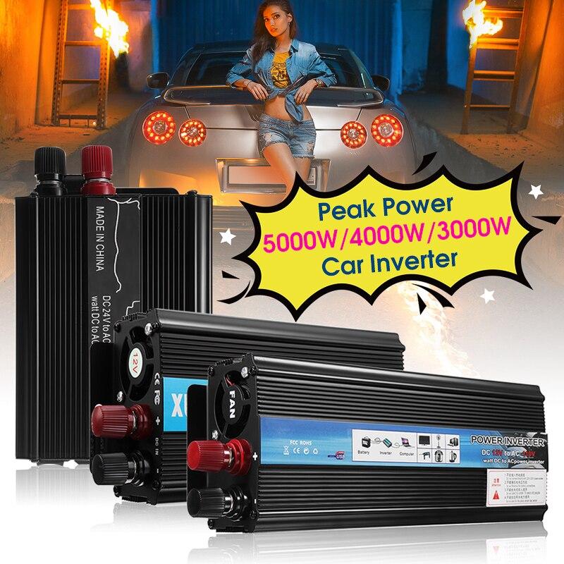 Инвертор 12 В 220 В 2000 Вт 1000 Вт 500 Вт P ЕАК Трансформатор напряжения тока преобразователь DC 12 В к AC 220 В Солнечный Мощность инвертор