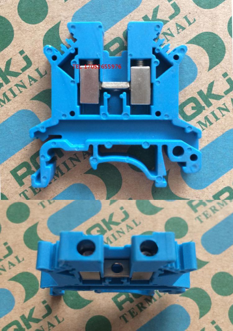 100pcs Blue UK2.5B Wire Terminal UK 2.5B UK Series 2.5mm universal ...