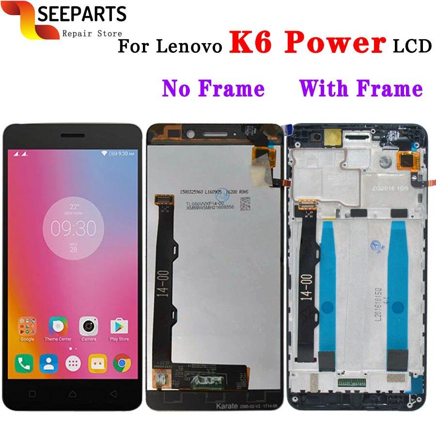 Lenovo K6 di Alimentazione del Display LCD Touch Screen Digitizer Assembly con Telaio K33a42 k33a48 Strumento di Sostituzione 5.0 Lenovo Lenovo DisplayLenovo K6 di Alimentazione del Display LCD Touch Screen Digitizer Assembly con Telaio K33a42 k33a48 Strumento di Sostituzione 5.0 Lenovo Lenovo Display