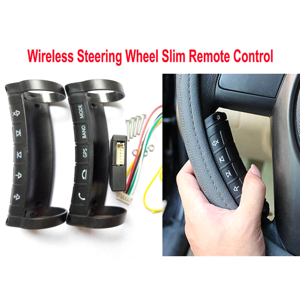 Image 2 - Universal Multifunction 5/10 Buttons Remote Control Controller Key Steering Wheel Button Wireless Durable For Stereo DVD GPS-in Steering Wheels & Horns from Automobiles & Motorcycles