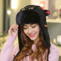 2015 Winter Hat Ear Flap Russian Bomber Hats Faux Fur Ski Beanie Hat Cap For Women Warm Cap stocking stuffers Free shipping MZ13
