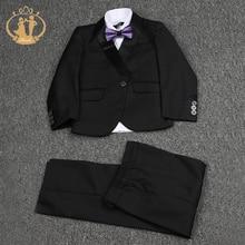 Nimble Black Suit for Boy Costume Enfant Garcon Mariage Single Button Kids Wedding Blazer Boys Suits Weddings 2018
