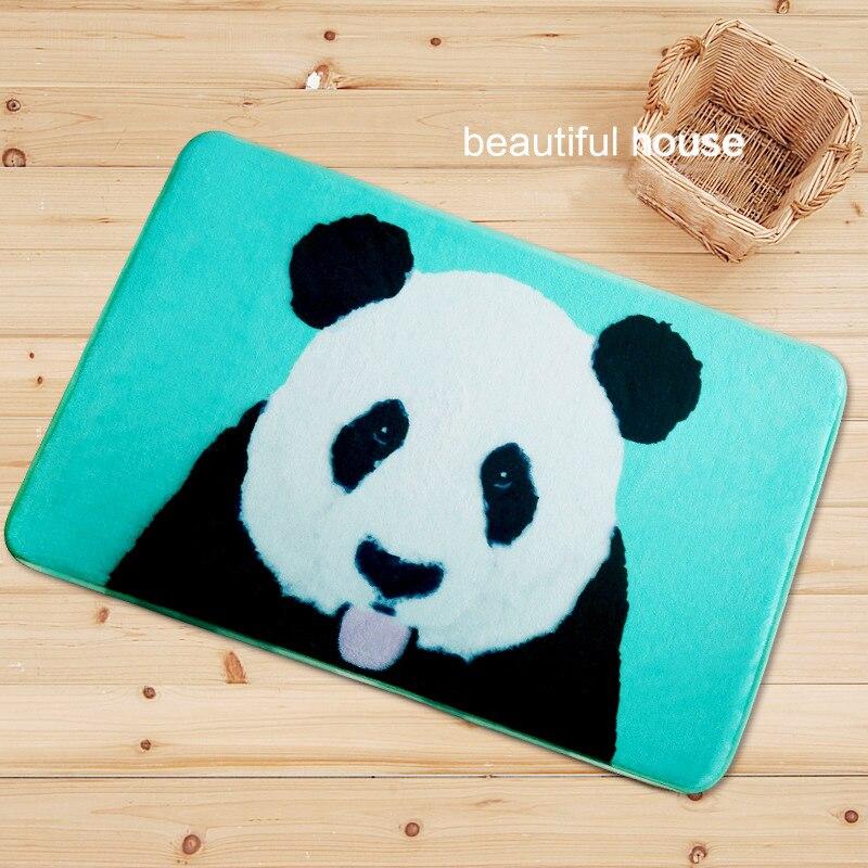 Zebra Kitchen Decor: Welcome Floor Mats Animal Panda Zebra Printed Home Decor