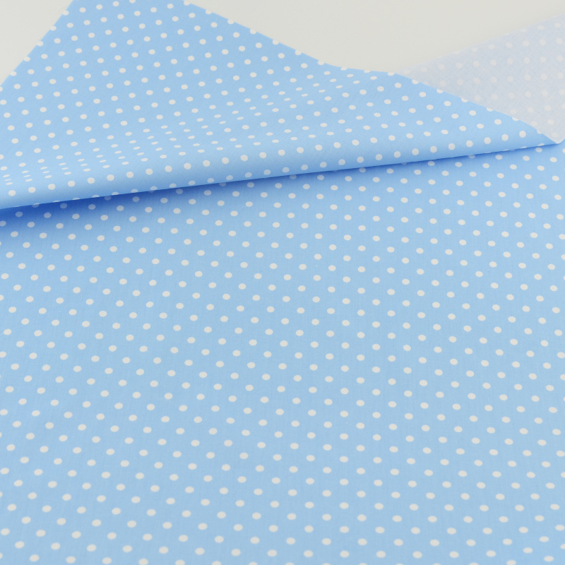 Blue Polka Dot Cotton Fabric Bedding Patchwork Quilting Sewing Cloth Craft Decoration Teramila Fabrics Tissue Home Textile craft