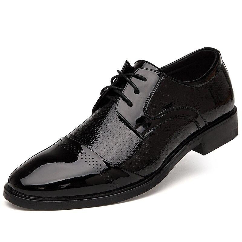 2016 Genuine Leather Men Oxford Shoes, Lace-Up Business Men Shoes, High Quality Men Dress Shoes Men Flats