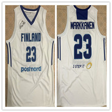 20ea1db77c8f 2019 New  23 LAURI MARKKANEN FINLAND NATIONALTEAM Men s Basketball Jersey  Embroidery Stitched Customize any name