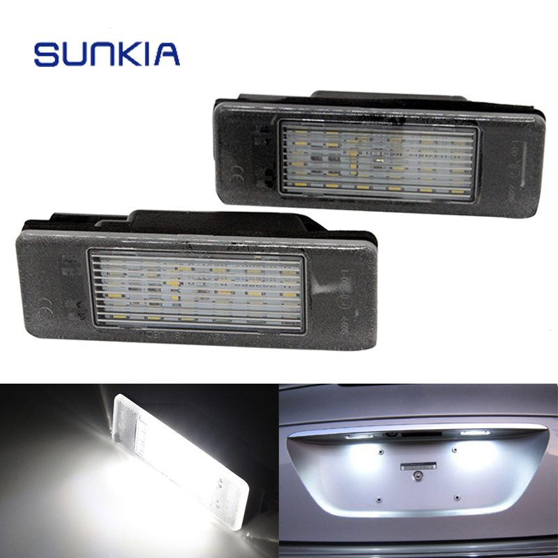 Romantic 2pcs/set Sunkia Led Number License Plate Lights For Citroen Berlingo C2 C3 C4 Jumpy Free Shipping To Have Both The Quality Of Tenacity And Hardness Automobiles & Motorcycles