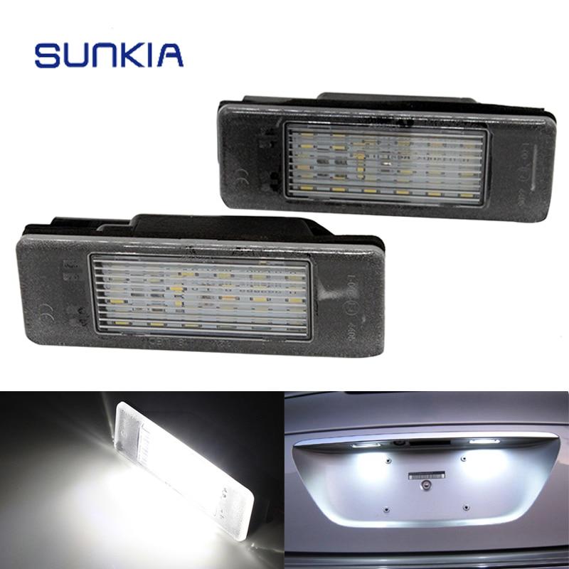 2шт/набор SUNKIA LED номерной знак света для Ситроен Берлинго С2 С3 С4 ДЖАМПИ Бесплатная доставка