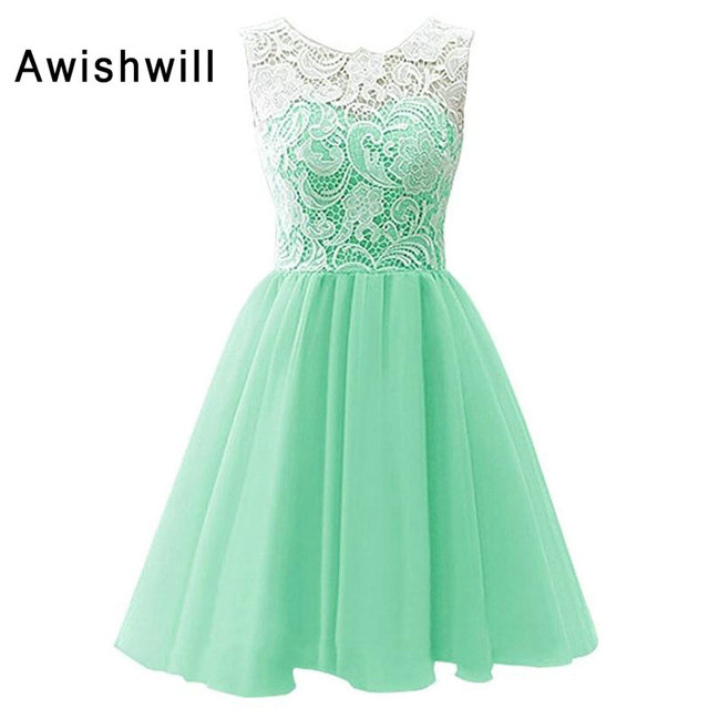 Mint Green Color Flower Pagenat Dress Little Princess Lace Tulle Ankle Length Kids Party