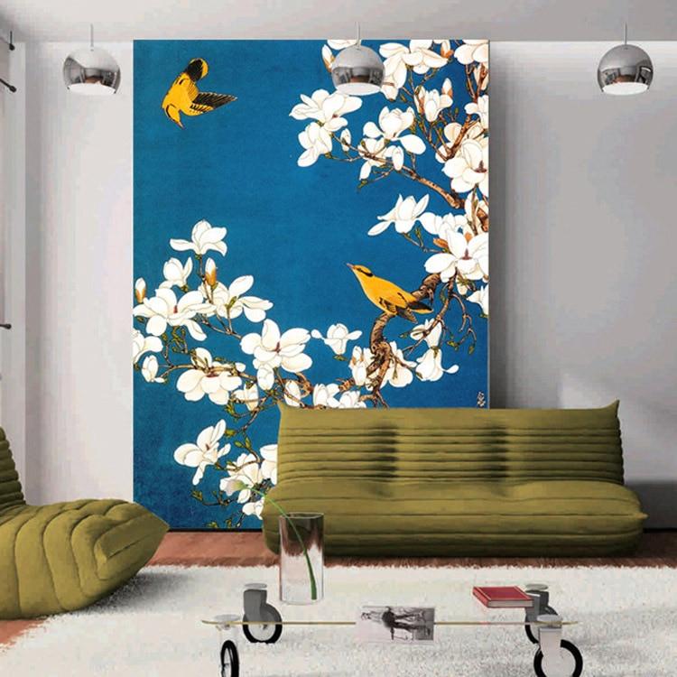 Vintage tapete schlafzimmer  Aliexpress.com : Custom Vintage Tapete Blume & vögel Wandbild ...