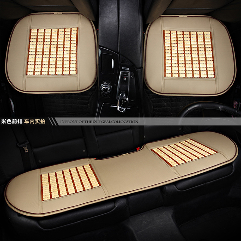 KKYSYELVA Leather Car Seat Cover Styling Four Seasons Car Interior Accessories Pad Seat Cushion Car Front Seat Covers