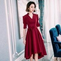 Backlackgirl Evening Dress Woman 2018 New Arrival Elegant Short Fund Bride Toast Serve Marry Gules Grace