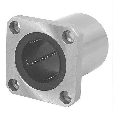 LMK35UU 35mm Inner Dia Square Flange Mount Linear Motion Ball Bearing lmh20luu 20mm inner dia oval flange mounted linear motion bushing ball bearing