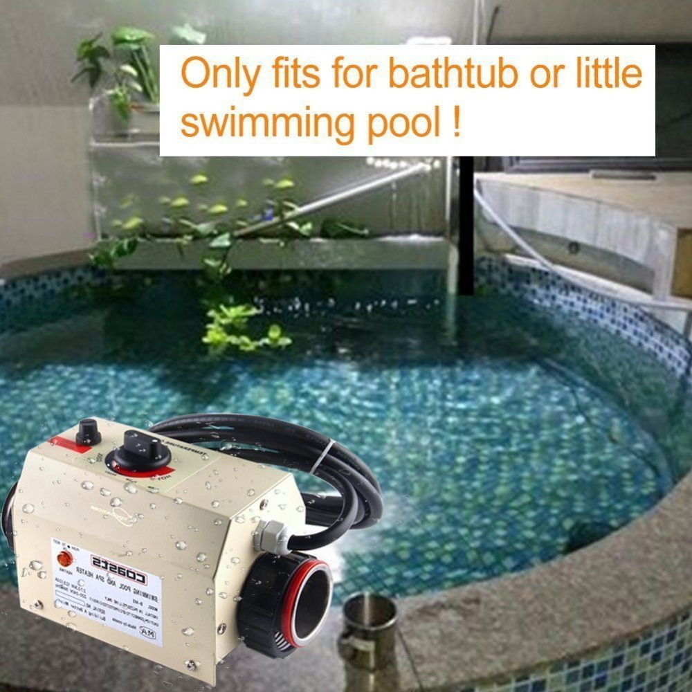 (Ship from EU) 3KW Electric Swimming Pool SPA Bath Heating Solar Heating Pool Thermostat 220V SPA hot tub Heater Water Sports