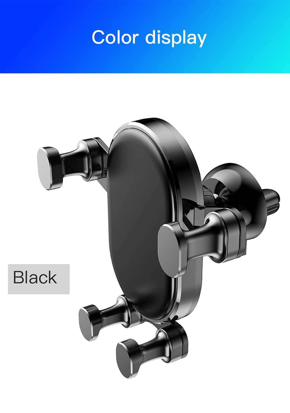 !ACCEZZ Gravity Car Phone Holder Air Vent Mount Mobile Phone Holder Universal For iphone XS MAX Xiaomi Mix 3 Bracket Support GPS (18)