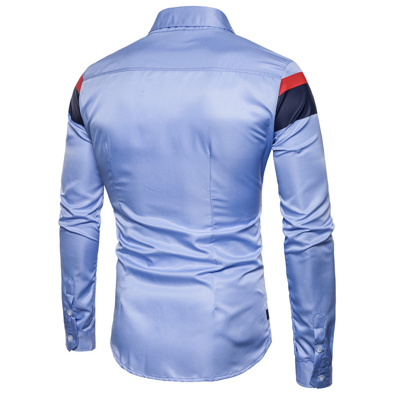 2018 Spring And Autumn New Brand Men S Wear Fashion Contrast Color