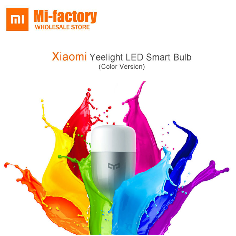 Xiaomi Yeelight Colorful Smart Yeelight RGB Blue E27 Bulb White Mijia Led Blue Bulb Light Lamp APP WIFI Phone Remote Control e27 app remote control professional bluetooth smart led bulb intelligent colorful flashing round head music lamp led night light