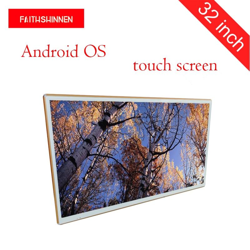 Grand signage numérique interactif d'intérieur polychrome de kiosque d'écran tactile d'affichage à cristaux liquides d'affichage de bâti de mur de 32 pouces Android