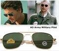 2016 Newest American Army MILITARY AO Brand Sunglasses Optical Glass Lens Metal Alloy Frame Sun Glasses Oculos De Sol Masculino