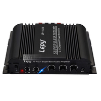 2016 lepy LP-168S LP-168HA 12v power amplifier with heavy bass 2.1 channel amplifier 40W*2+68W with 12V 5A Charger