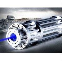 JSHFEI 450nm Haute Puissance 200 mW Bleu Laser Pointeur Lazer Stylo Lumière Mise Au Point Réglable Brûler Match GROS LAZER
