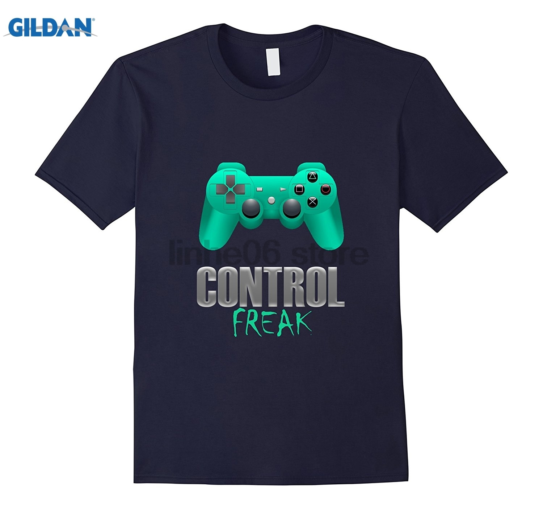 GILDAN Control Freak Video Gaming Addict Console Game T-Shirt Hot Womens T-shirt