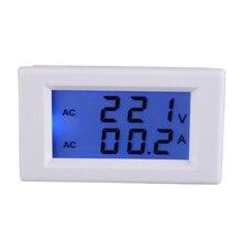 AC 100-300 V 50A Mini LCD Digital Del Voltímetro Del Amperímetro Volt Panel Amp Actual Probador Del Metro Del Calibrador Portátil Blanco
