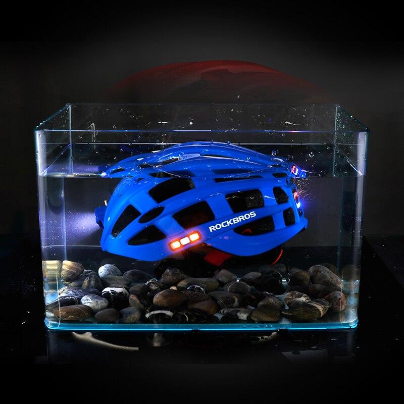 ROCKBROS luz bicicleta casco ultraligero casco Intergrally-moldeado de montaña bicicleta de carretera MTB casco seguro de las mujeres de los hombres 57- 62 cm - 5
