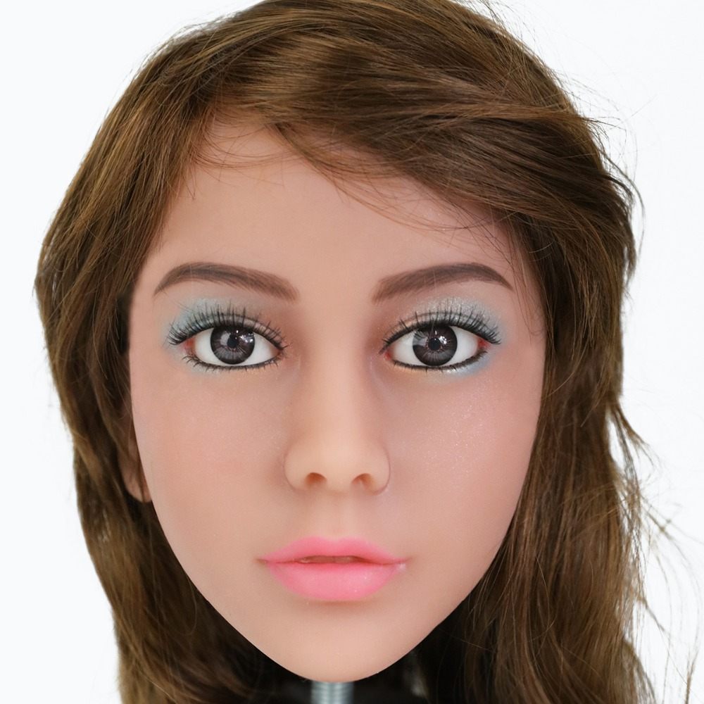 2017 Newest Top Quality Head 56# Big Doll's Head Tan Skin Sex Doll Head for Silicone Sex Doll Suitable For More Than 140cm Doll 2017 newest top quality head 56 big doll s head tan skin sex doll head for silicone sex doll suitable for more than 140cm doll