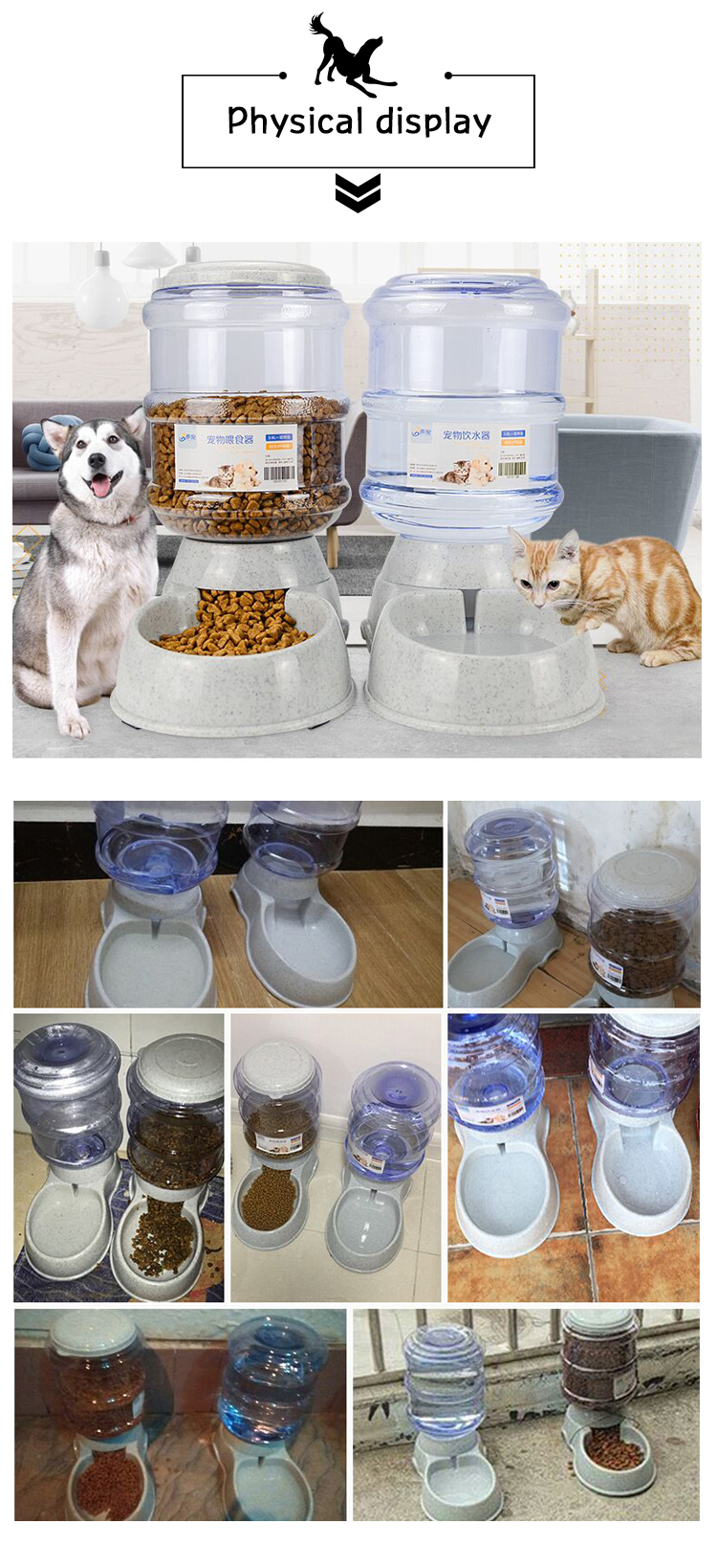 Automatic Dog Food Bowl water & food feeder, consistent supply of fresh food & water; ideal for cats & dogs | DogsMall-International