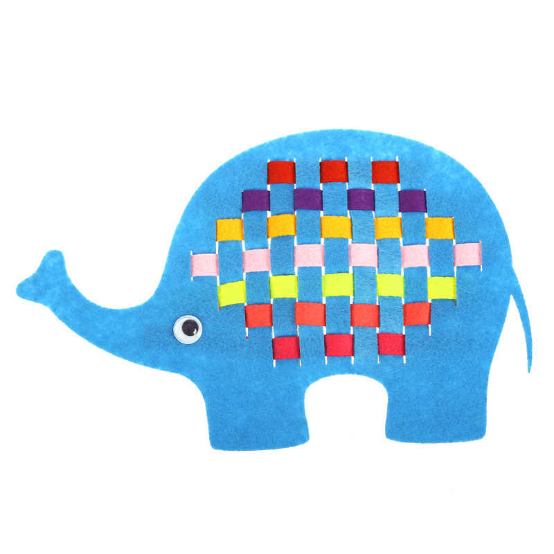 DIY สานผ้าการเรียนรู้งานฝีมือทำด้วยมืออนุบาลของเล่นคู่มือการสอน Montessori เด็กของเล่นเพื่อการศึกษาเด็ก