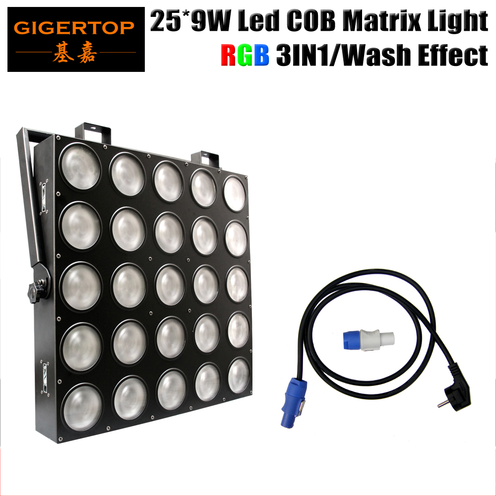Freeshipping 25x9W RGB 3IN1 LED Matrix 25X9W Blinder Light DMX 84/75/30/6 DMX Channel 5X5 Stage Audience Tyanshine TP-M25 RGB blinder m45 x treme