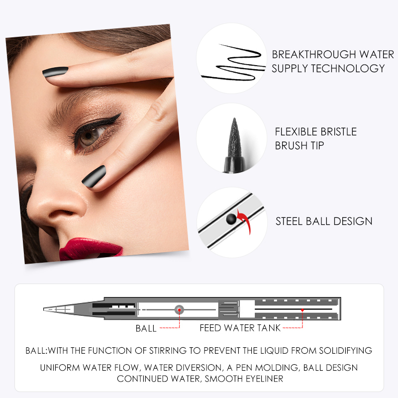 Image 4 - FOCALLURE 24 Hours Long Lasting Liquid Eyeliner Pen Professional Eye Liner Pencil Dry Fast Eyeliner-in Eyeliner from Beauty & Health