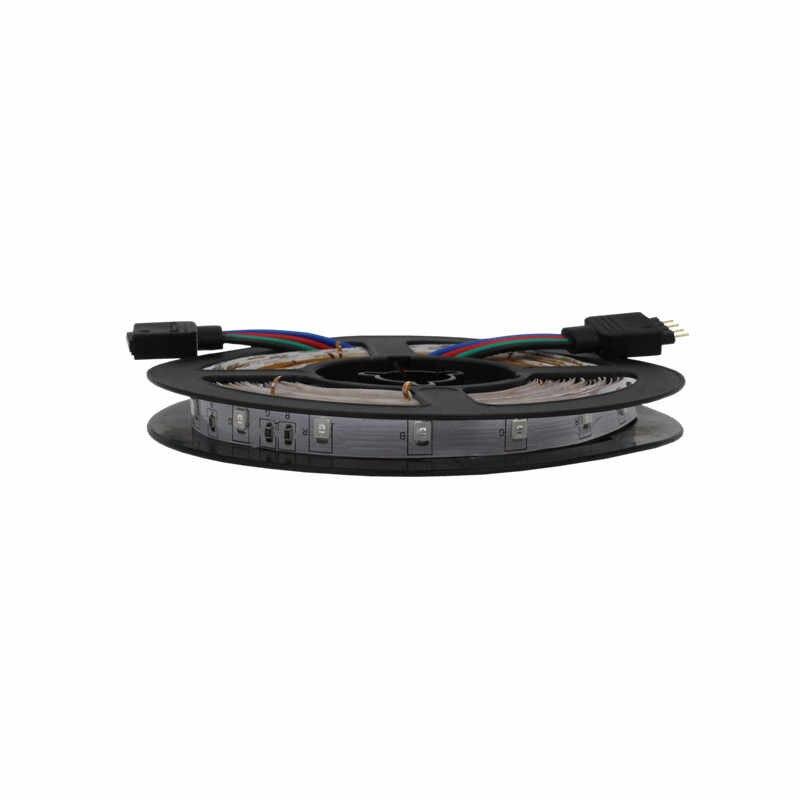 5m/rolls Waterproof rgb led strip neon light warm white blue red green LED ribbon Flexible light strip tape adapter 12v