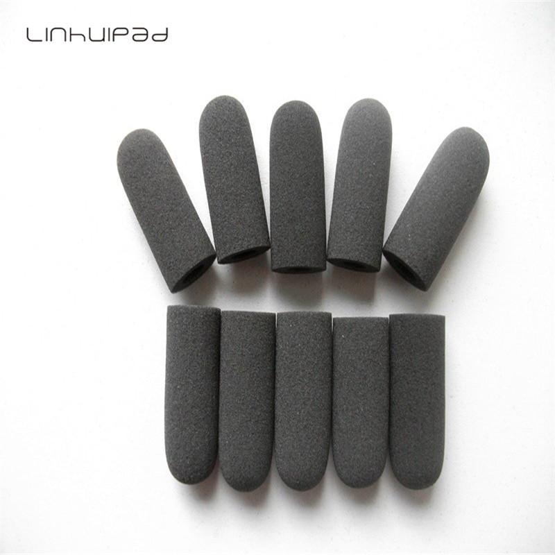 Linhuipad гъста пяна микрофон вятър, микрофон гъба покритие 10 mm вътрешен диаметър & 36mm вътрешна дължина 10 бр / много безплатна доставка  t