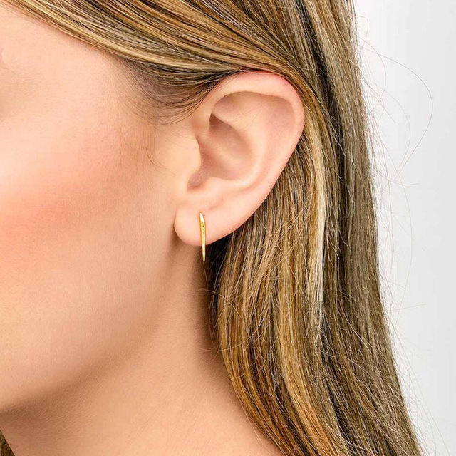 Hot New Fashion Jewelry Alloy Silver Plated Small Bar Stud Earrings Best Gift For Women