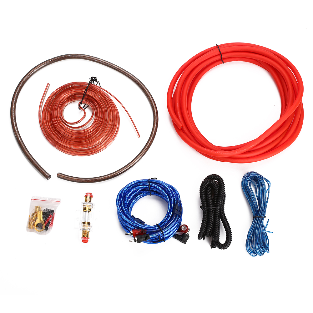 4 Gauge Amp 2000W Pure Copper Durable Car Amplifier Installation Kits Amplifier Cable Amplifier Wire Woofer Subwoofer Wiring