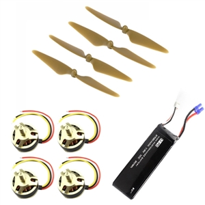 цены  Crash Pack for Hubsan H501S Quadcopter ( 4pcs Propeller & 4pcs Motor & Battery )