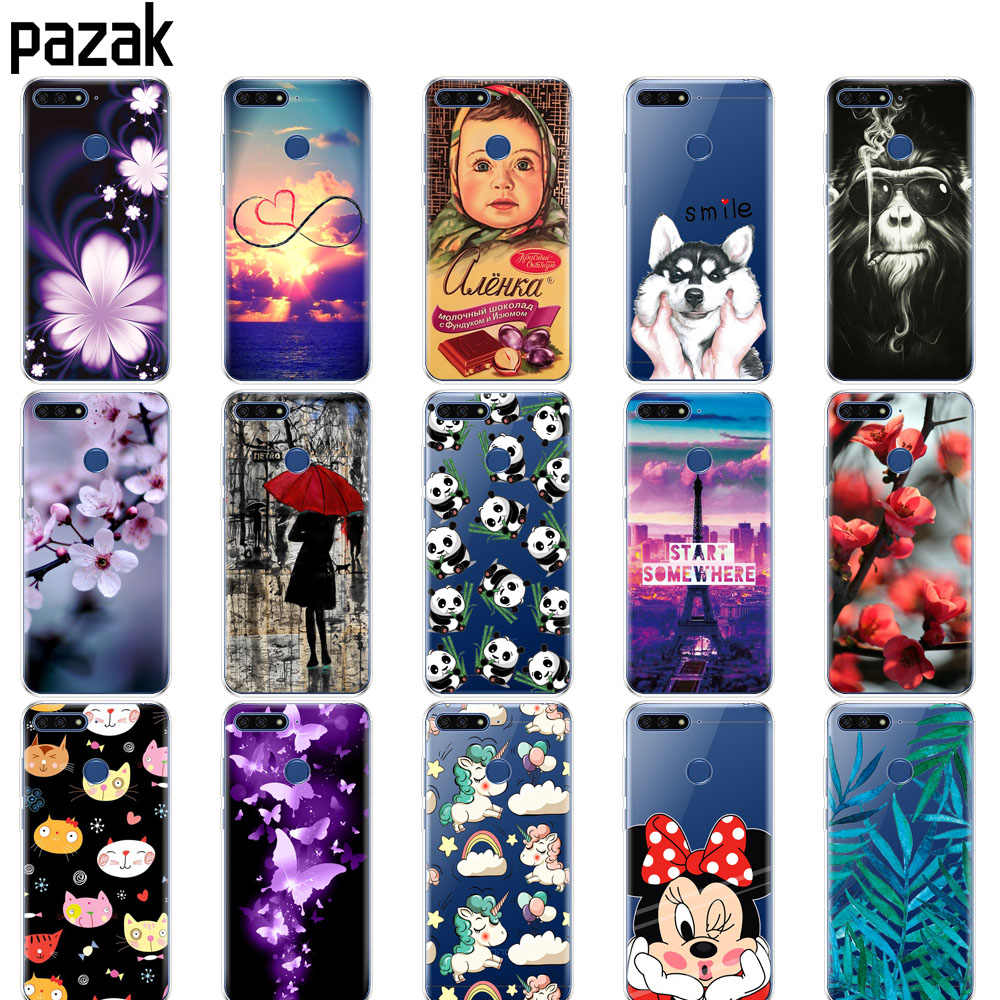 Silicone case For Huawei Honor 7C 5.7 Inch Case Soft TPU Cute Cover Back Protective Phone shell For Huawei honor 7c Aum-L41
